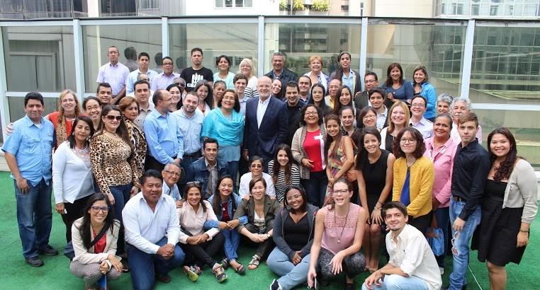 El Relator Michel Forst junto defensores y defensoras en DDHH en Venezuela